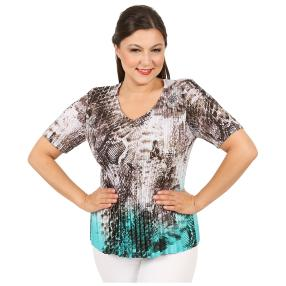 Jeannie Plissee-Shirt 'Elina' multicolor (36-48)