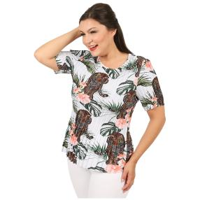 Jeannie Plissee-Shirt 'Riana' multicolor (36-48)