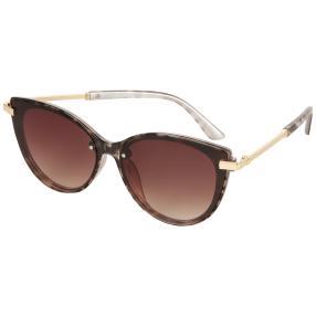 Damen-Sonnenbrille braun, Animalprint