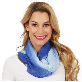 mocca by Jutta Leibfried Plissee-Schal blau Farbve