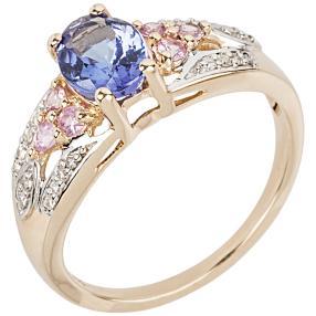 Ring 585 Gelbgold AAA Tansanit