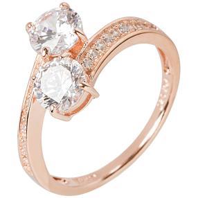 Ring 925 Silber rosé vergoldet Zirkonia