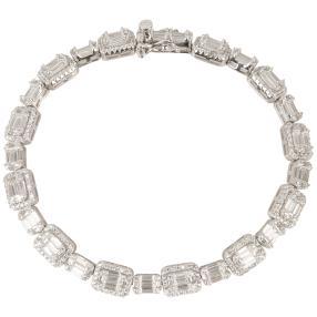 Armband 925 Sterling Silber, Zirkonia