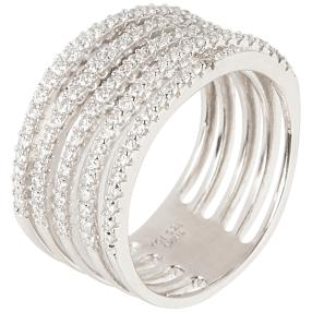 Ring 925 Silber rhodiniert Zirkonia