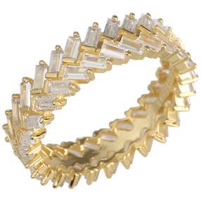 Ring 925 Silber vergoldet Zirkonia