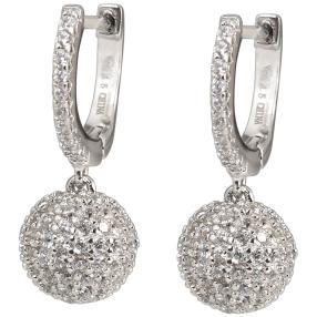 Ohrhänger 925 Silber rhodiniert, Zirkonia