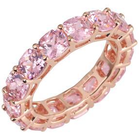 Ring 925 Silber rosé vergoldet, Zirkonia