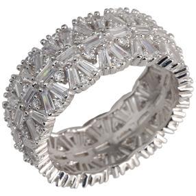 Ring 925 Silber rhodiniert, Zirkonia