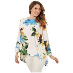 ManouLenz Bluse weiß/multicolor