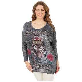 ManouLenz Oversize Shirt 'Tiger Queen' multicolor