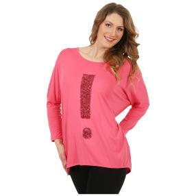 ManouLenz Oversize Shirt 'Typo' pink