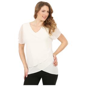 ManouLenz Chiffon-Shirt doppellagig weiß