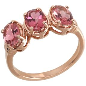 Ring 585 Roségold AAA Turmalin pink