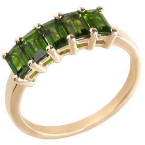 Ring 375 Gelbgold Chromdiopsid