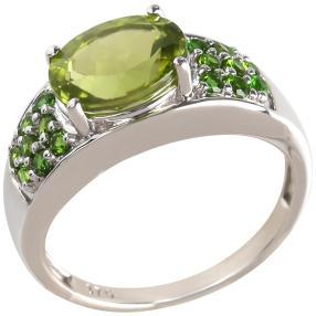 Ring 375 Weißgold, Peridot
