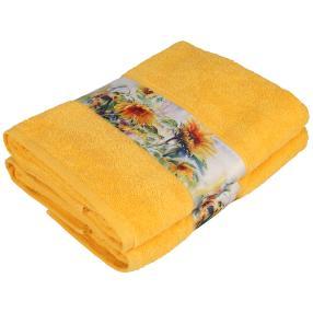 Duschtuch Sonnenblume , 2er-Set, gelb, 70x140cm