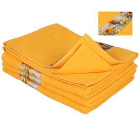 Handtuch Sonnenblume, 4er-Set, gelb, 50x100cm