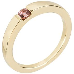 Ring 925 Sterling Silber vergoldet Turmalin pink