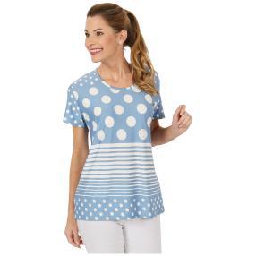 Damen-Shirt 'Lilli' blau/weiß