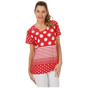 Damen-Shirt 'Lilli' rot/weiß