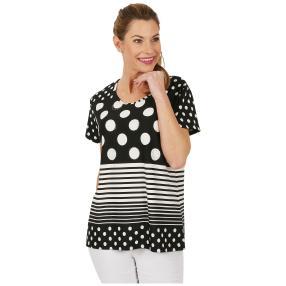 Damen-Shirt 'Lilli' schwarz/weiß