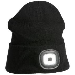 Mütze unisex mit LED schwarz