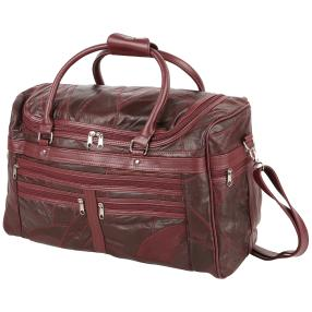 Reisetasche Patch-Leder bordeaux