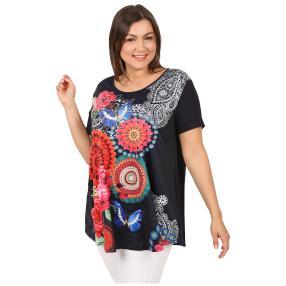 Damen-Shirt 'Marisol' dunkelblau/multicolor