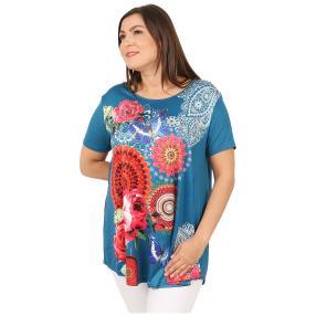 Damen-Shirt 'Marisol' blau/multicolor