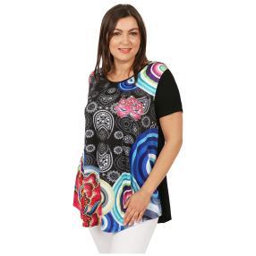 Damen-Shirt 'Loretta' schwarz/multicolor