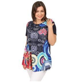 Damen-Shirt 'Loretta' dunkelblau/multicolor