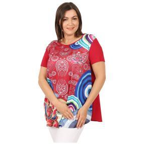 Damen-Shirt 'Loretta' rot/multicolor