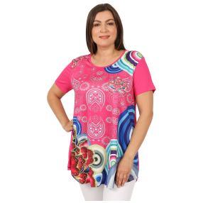 Damen-Shirt 'Loretta' pink/multicolor