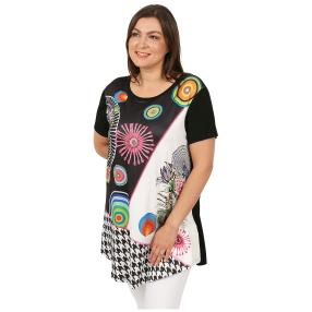Damen-Shirt 'Elisa' schwarz/multicolor