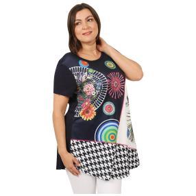 Damen-Shirt 'Elisa' dunkelblau/multicolor