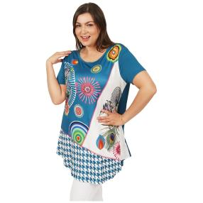Damen-Shirt 'Elisa' blau/multicolor