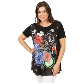 Damen-Shirt 'Belinda' schwarz/multicolor
