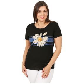 Damen-Shirt 'Flor' schwarz