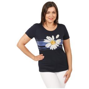 Damen-Shirt 'Flor' dunkelblau