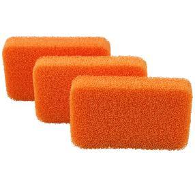 Silikon-Reinigungsschwämme 3-teilig, orange