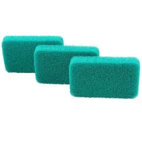 Silikon-Reinigungsschwämme 3-teilig, grün