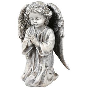 Engel, Polyresin, 15cm, grau
