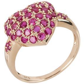 Ring 375 Gelbgold, Thai Rubin