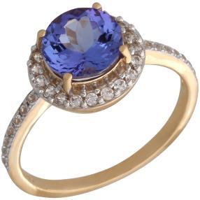 Ring 585 Gelbgold, AATansanit + Zirkon