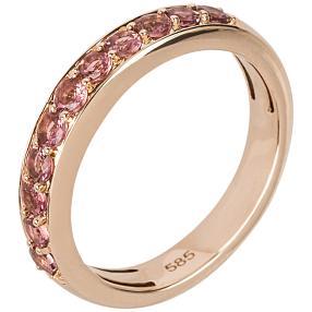 STAR Ring 585 Roségold AAATurmalin pink