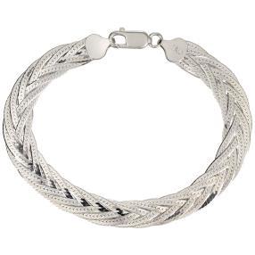 Armband 925 Silber, Flechtdesign
