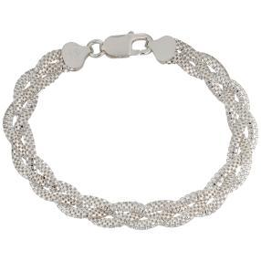 Armband 925 Silber, geflochten