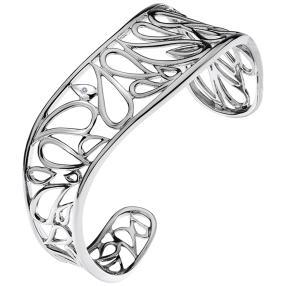 Armreif rhodiniert Messing, Diamant