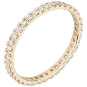 Memoire-Ring 585 Gelbgold 38 Brillanten 0,7 ct