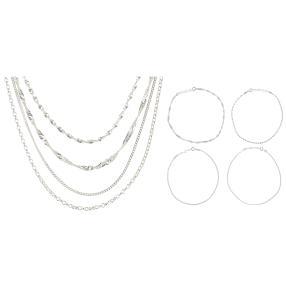 Ketten-Set 8 teilig 925 Silber